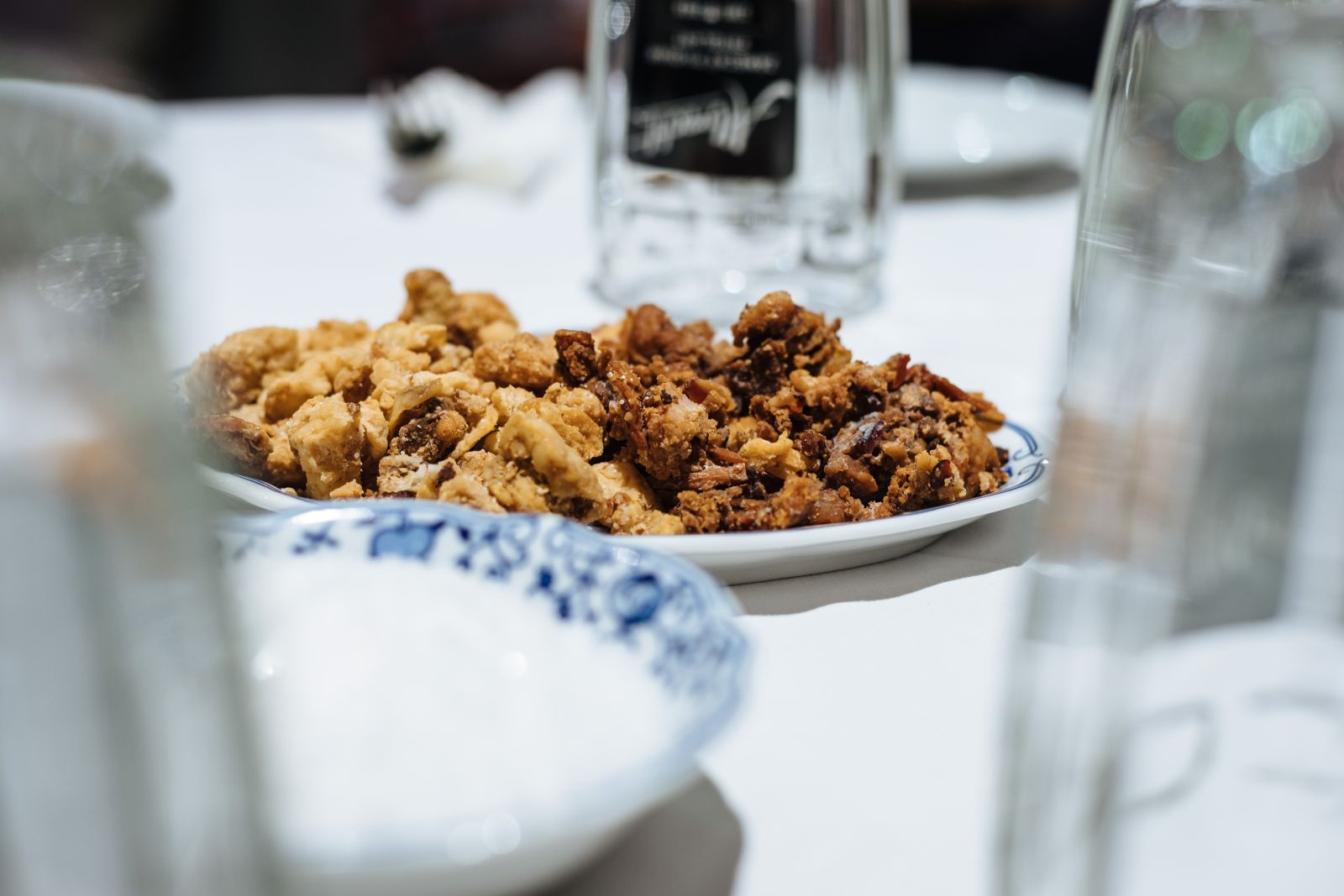 Pork scratchings will be waiting for you on arrival but be careful, don't get too carried away with them..